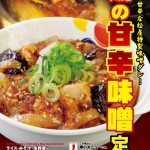 【5/23】松屋から「鶏の甘辛味噌定食」発売