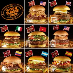ワールドバーガーツアー2017に登場する8種類のご当地バーガー