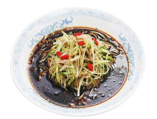 冷し黒酢麺