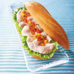 ミラノサンド 鹿児島県産黒豚と夏野菜ソース