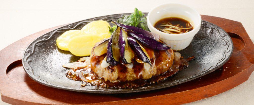ビーフハンバーグ~生姜醤油ソース