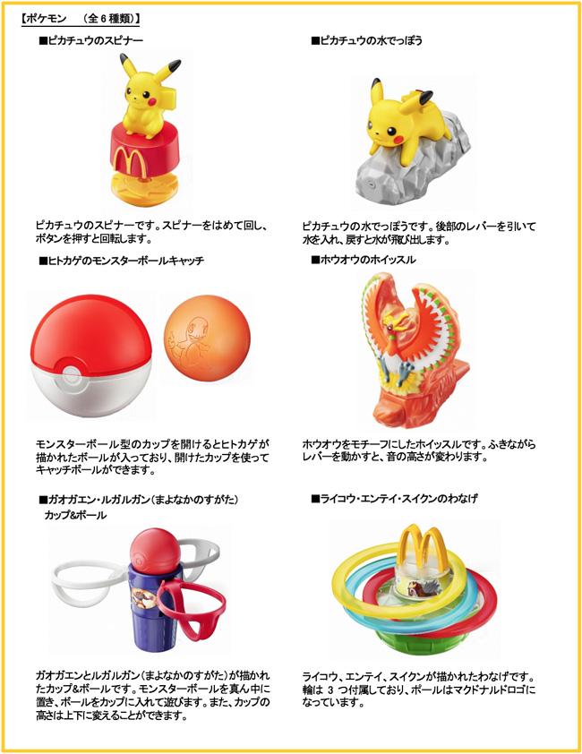 ハッピーセット「ポケモンのおもちゃ」