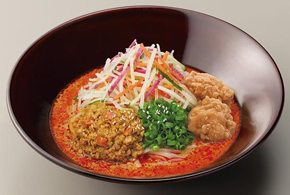 5種野菜と唐あげのロカボ坦々麺