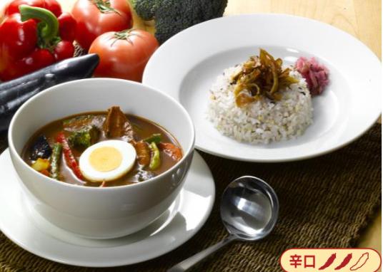 """""""10種の国産野菜""""とポークのスープカレー"""
