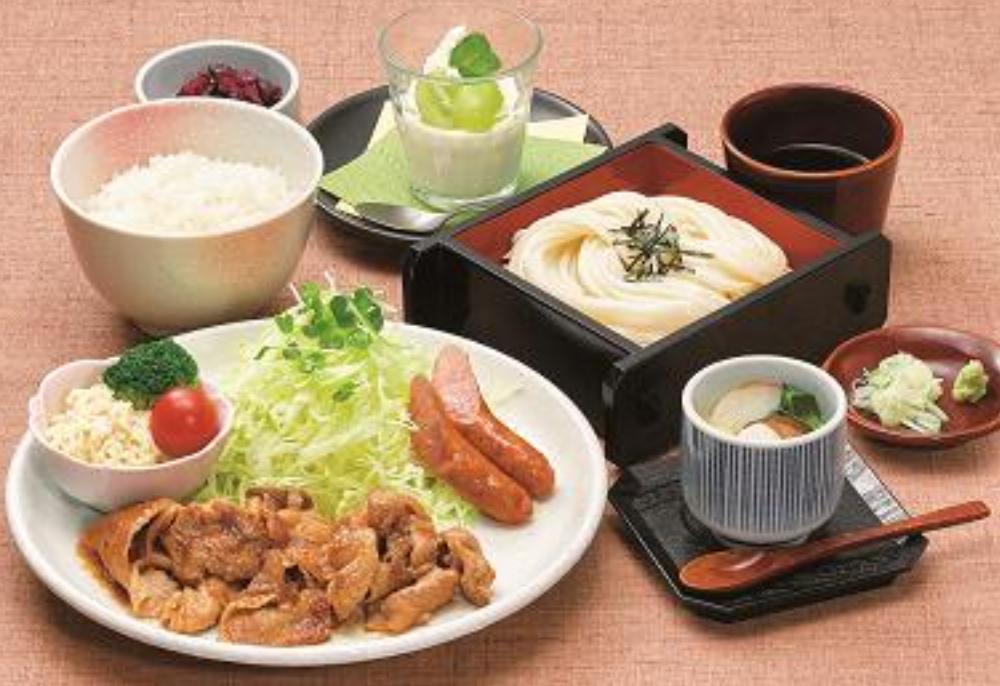 甲州富士桜ポーク使用「生姜焼き御膳」