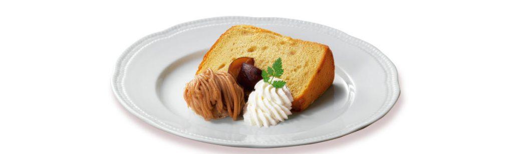 シフォンケーキ with モンブランアイス