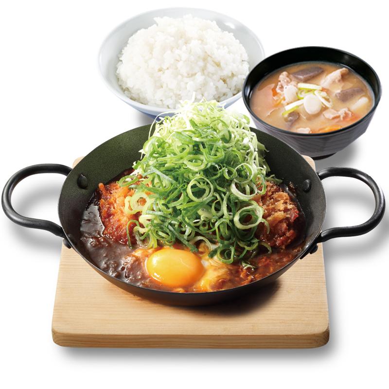 青ねぎ味噌カツ鍋定食