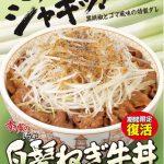 【12/13】白髪ねぎがたっぷり! すき家の「白髪ねぎ牛丼」復活