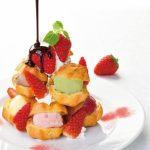 コージーコーナー、創業70周年記念メニュー「苺のプチシュータワー~7色のアイス~」を期間限定販売