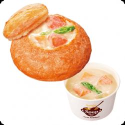 「アラスカ産サーモンクリームシチュースープパン」