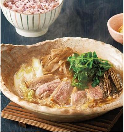 せりと鴨の出汁鍋定食