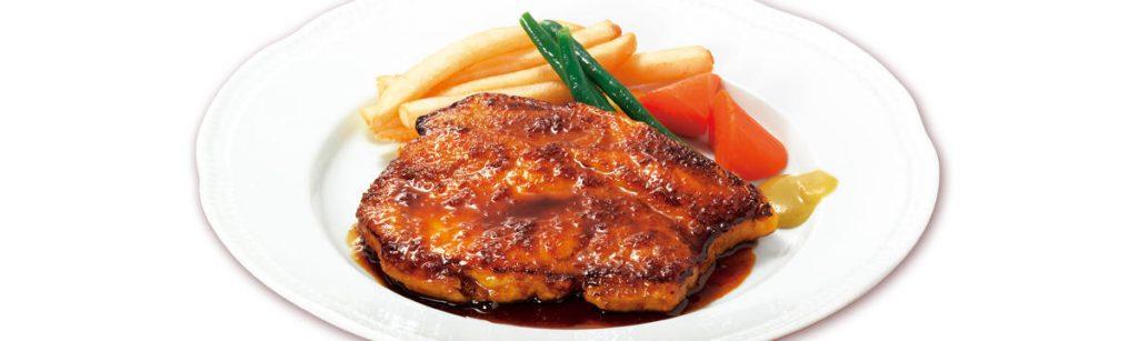 国産豚ポークロースステーキ ランチ