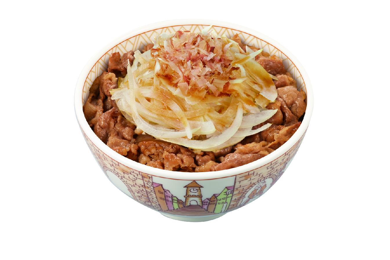 「シャキッと和風オニサラ牛丼」