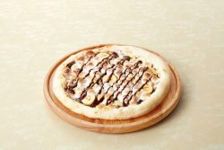 """「""""熱々""""デザートピザ~チョコ・マシュマロ・バナナ~」"""