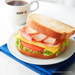 「朝カフェ・セットB クラブハウスサンド」