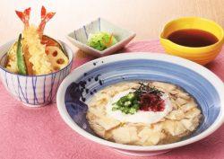 湯葉とろそば と 天ぷらミニ丼