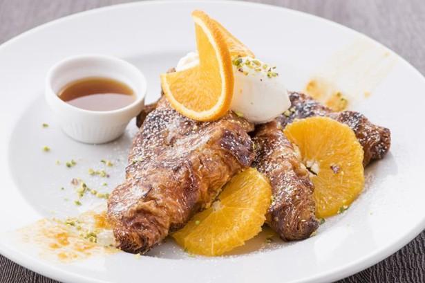 「オレンジクロワッサンフレンチトースト」